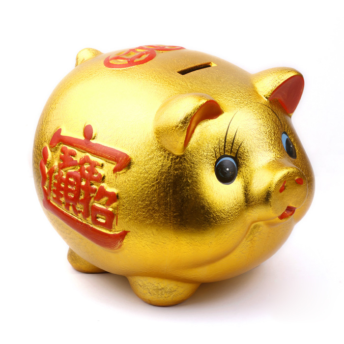 Kat-good-wealth-Medallion-ceramic-12-inch-gold-pig-money-box-saving-tank-Home-Arts-and-crafts-furnishings-0007_2